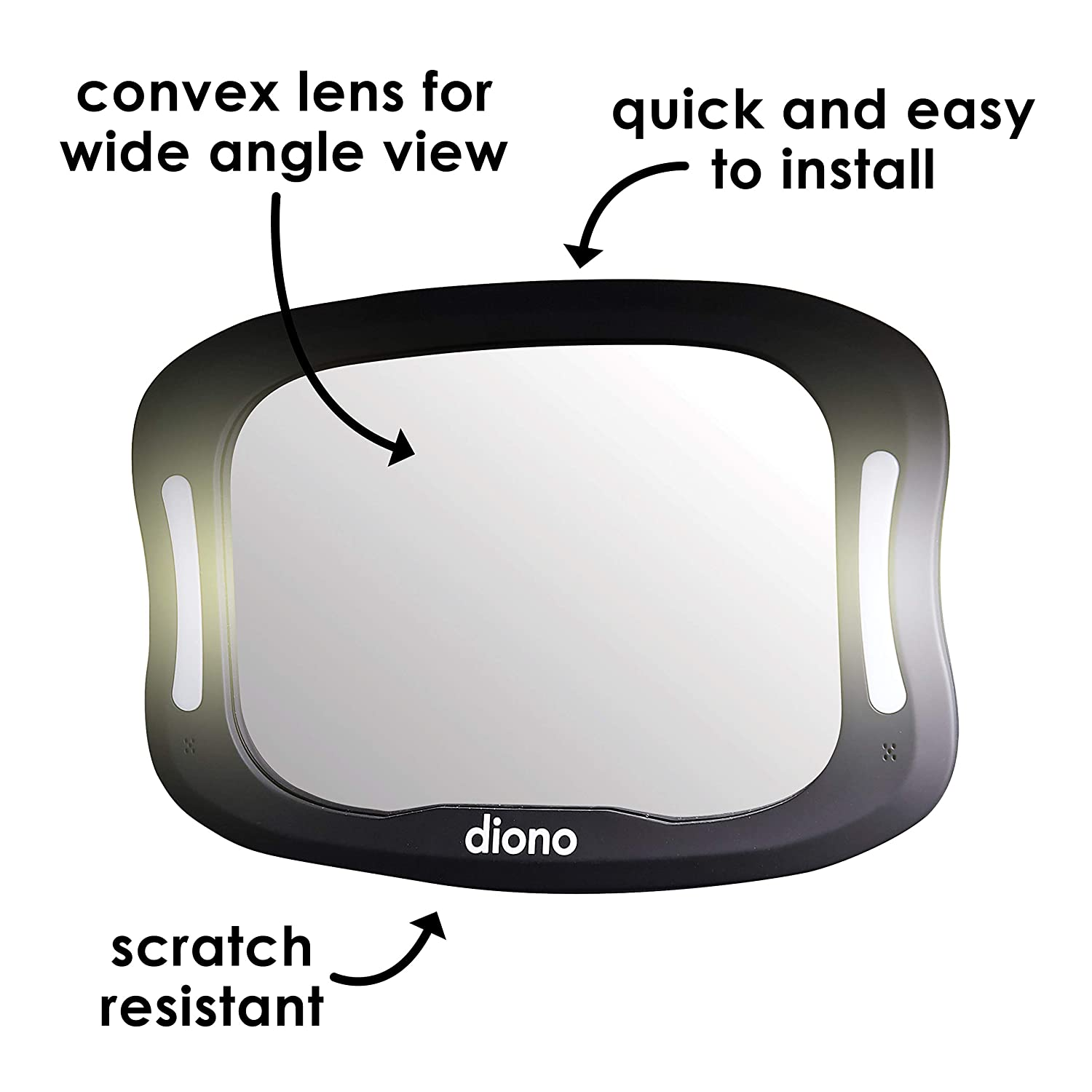 Diono Easy View XXL Baby Mirror with Remote and LED