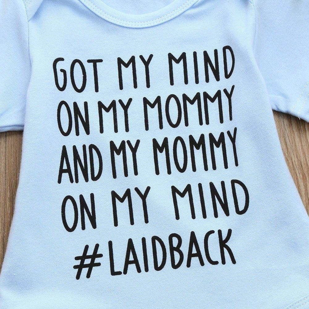 ❤ Mameluco para el bebé, Lindo Recién Nacido Kids Baby Letter Print Niños Niñas Trajes Ropa Romper Jumpsuit Absolute: Amazon.es: Ropa y accesorios