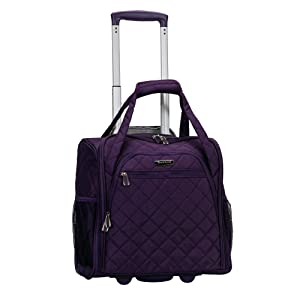 Rockland Wheeled Underseat Carry-on, Purple