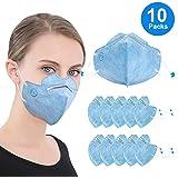 使い捨て マスク 立体 レギュラーサイズ ますく 三層構造 個包装10枚入れ ブルー