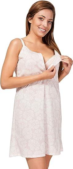Sibinulo Camisón de Maternidad Pijama Lactancia Vestido: Amazon.es: Ropa y accesorios