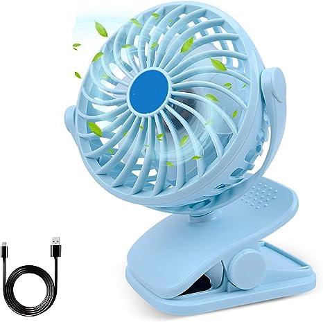 Ventilador de Clip, Mini Escritorio Ventilador portátil Ventilador ...