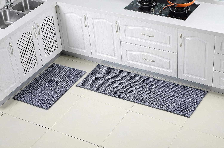 Dricar Carpet Kitchen Runner Kitchen Mat, 9 Pieces Washable Kitchen Runner  Decorative Runner for Kitchen and Bar, 9 Inch Chenille Microfibre Material  ...