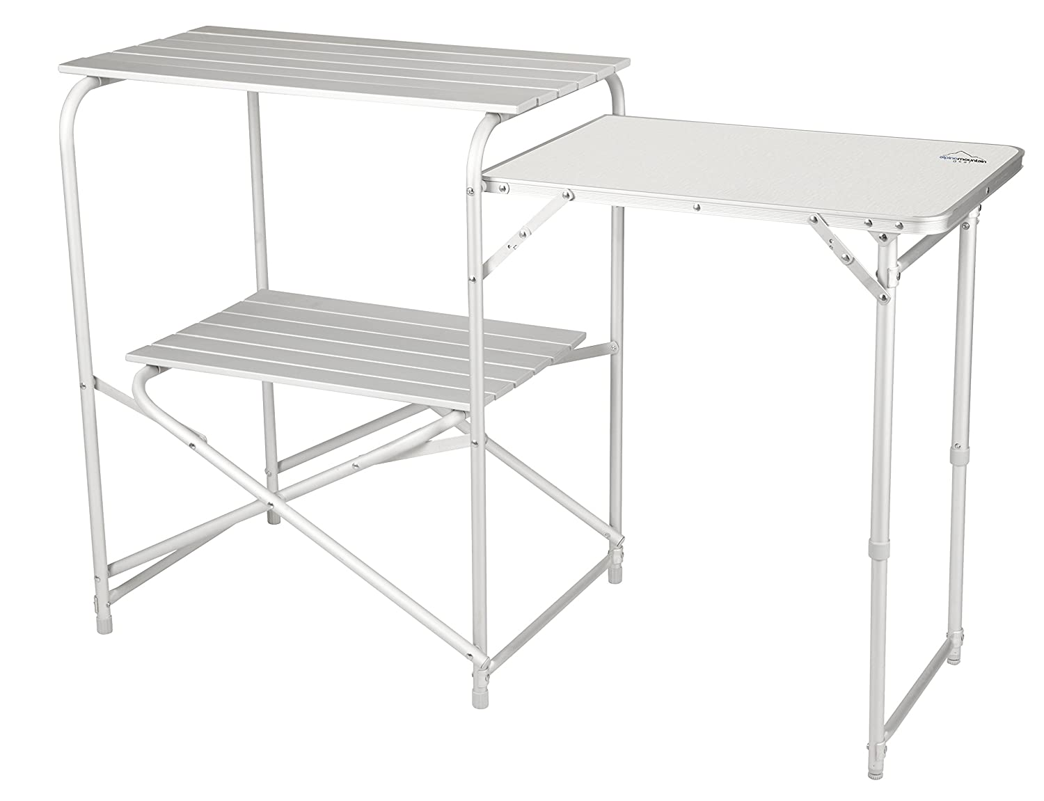Amazon.com : Alpine Mountain Gear Roll Top Kitchen Table, Grey ...