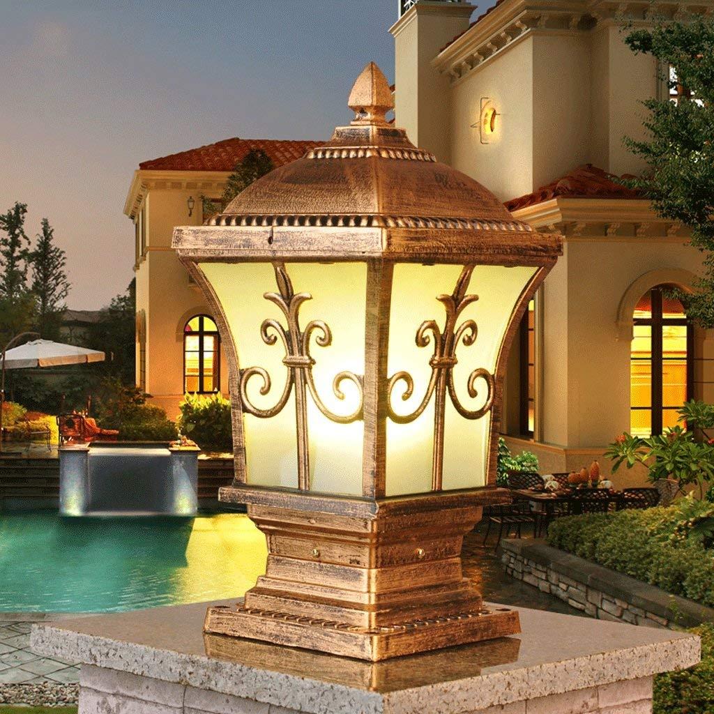 BXJ 屋外用中庭用ランプポストランプドアドア屋外ドア用コラムヘッドライトウォールランプ B07R9N8CGP