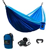 Lightweight Double Camping Hammock - Aria 2 by Elementa World - Top Quality Hammock Perfect for Camping, Backpacking, Beach, Park, Balcony, Backyard, and more! Tree Straps Included!