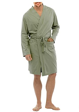 BrandBuys Mens Lightweight 100% Cotton Lounge Wear Jersey Wrap ...