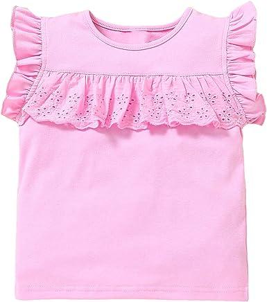 BigBig Style Camiseta de bebé niña con cuello redondo y ...