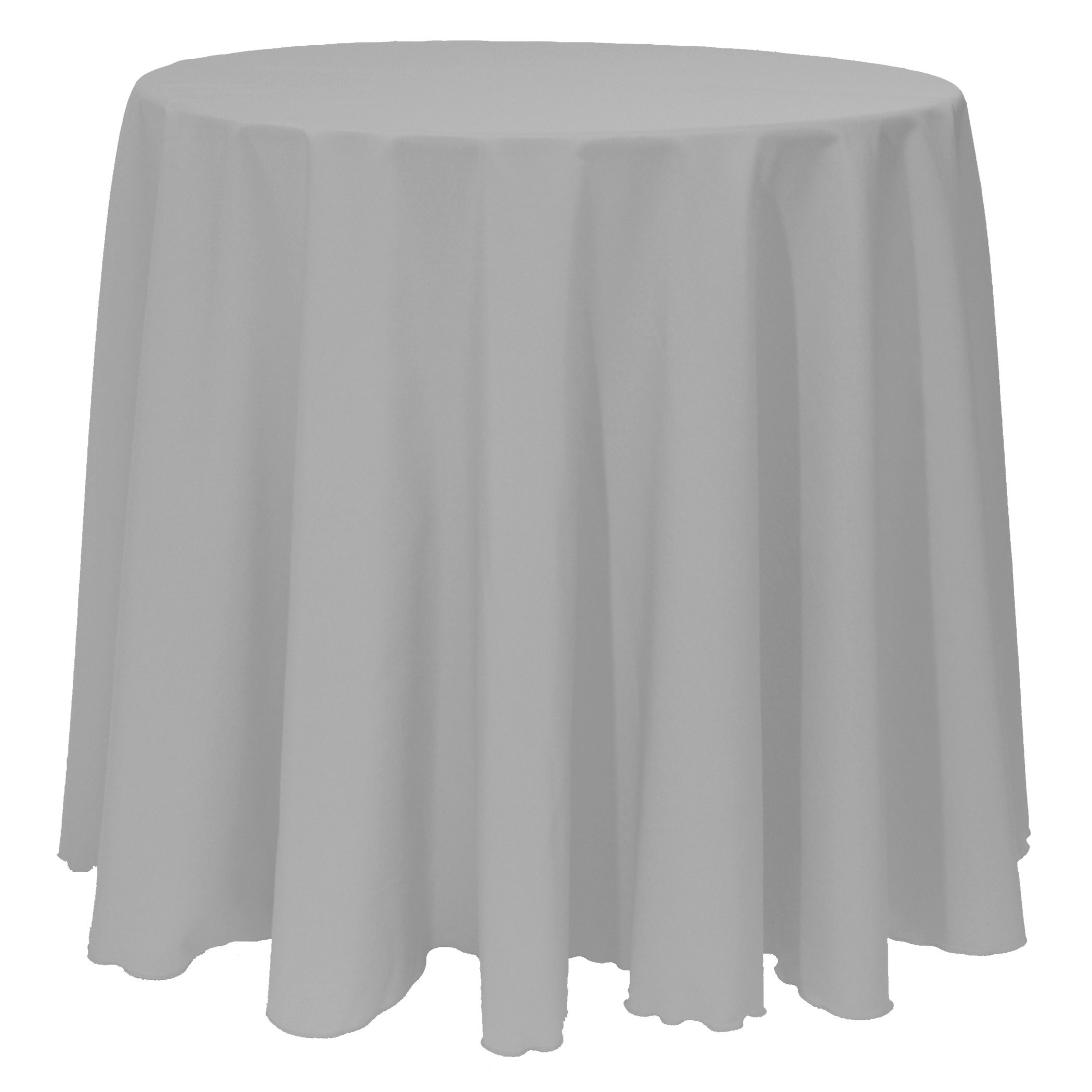 Ultimate Textile (5 Pack) 90-Inch Round Polyester Linen Tablecloth - for Wedding, Restaurant or Banquet use, Silver