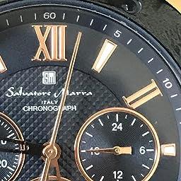 Amazon Co Jp Salvatore Marra サルバトーレマーラ 腕時計 メンズ クォーツ シリコン ビジネス アナログ ラバー 防水 シルバー ネイビー Ssnv 腕時計