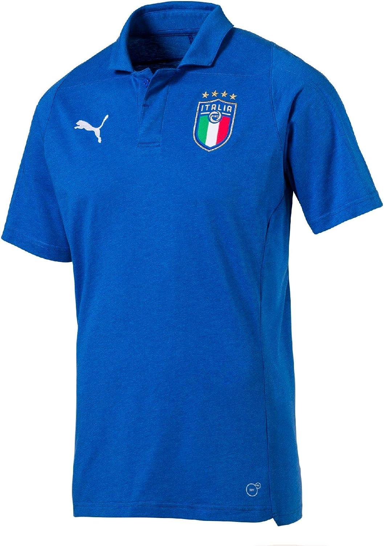 PUMA FIGC Italia Casual Performance Polo SS Polo: Amazon.es: Ropa ...