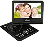 ieGeek 11'' Portable DVD Player with 5 Hour Rechargeable Battery, 360°LCD Eye Protection Swivel Screen, Supports 32GB SD Card and USB, with Remote Controller + Game Joystick +Car Charger (Black)