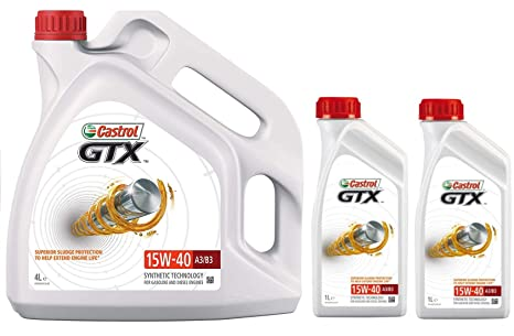 Castrol GTX 15w40 A3/B3 SL Aceite de Motor de tecnología sintética ...