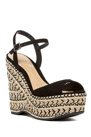 519afb76c3 SCHUTZ Women's Black Malinda Veridiane Espadrille Platform Wedge Sandals ...