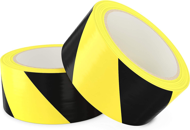Cinta peligro ultraadhesiva, negra/amarilla antidesgaste 2un
