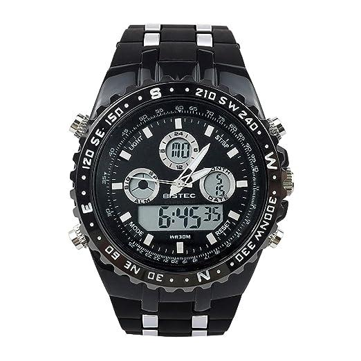 Montres Bracelet Calendrier Homme Sport Pour Chronomètre Digital Cuir Multifonction Analogique Silicone Kc13TluJ5F