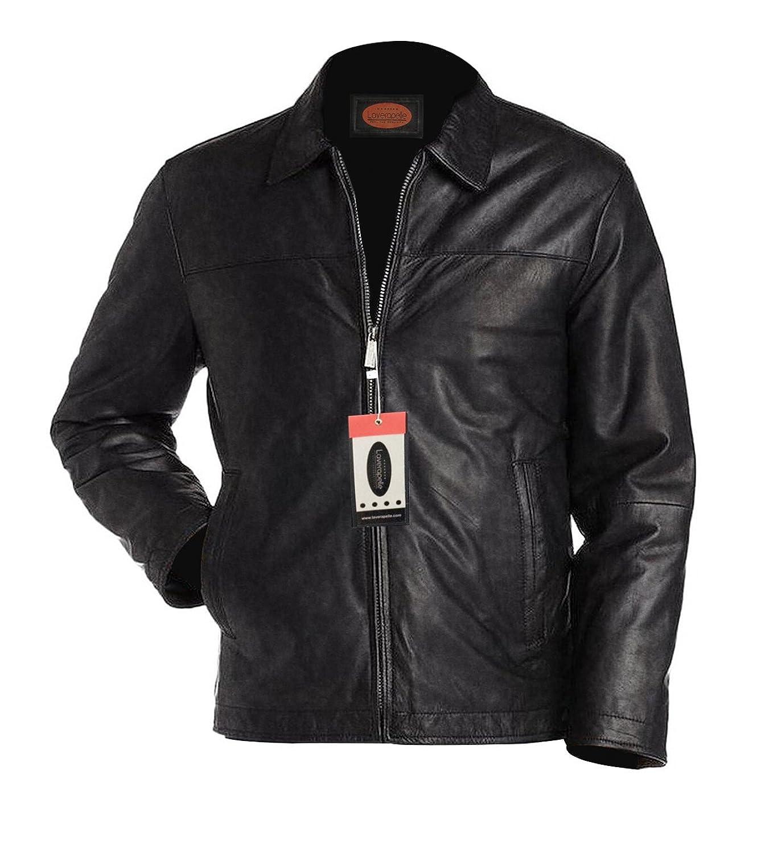 Laverapelle Men's Lambskin Real Leather Jacket Black - 1510282