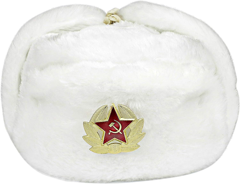Russische Fliegermütze Fellmütze Uschanka Pelzmütze Schapka Wintermütze Russland