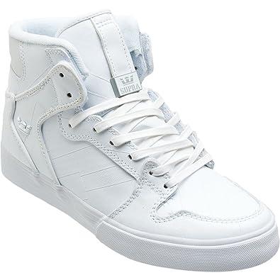 Supra Vaider High Top Skate Shoe - Women s White Tuf Duct Tape 6837d6e59