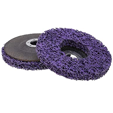 """5X//set 4/"""" Poly Strip Disc Wheel Paint Rust Removal Cleaning Angle Grinder Black"""