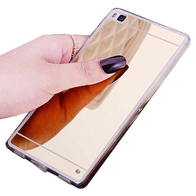 123 opinioni per LXHGrowH Huawei P8 lite Cover, Custodia a Specchio per Huawei P8 lite Gel