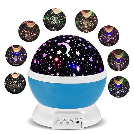 107 opinioni per Lampada Proiettore Stelle FKANT Luce Notturna Bambini con 4 Colori Lampadine