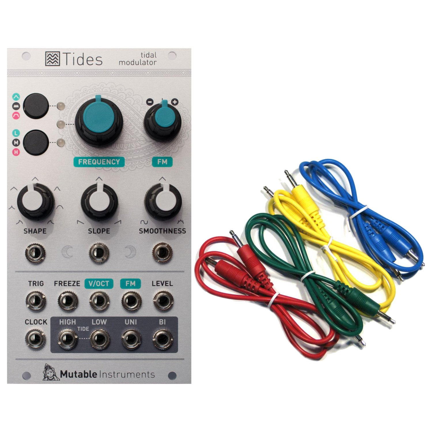 Mutable Instruments Tides Tidal Modulator Envelope Generator Eurorack Module w/ 4 Cables