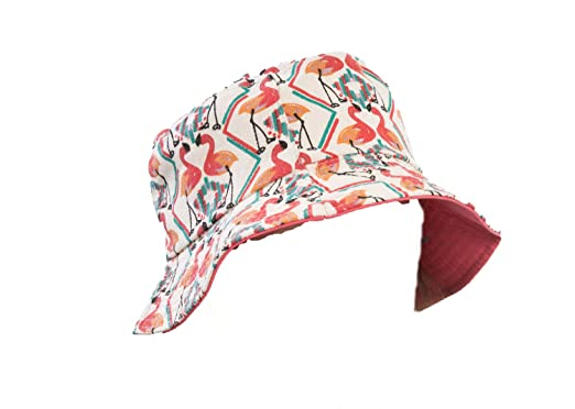Ladies Flamingo Print Bucket Hat with Pink Lining  Amazon.co.uk ... d2603bc0613
