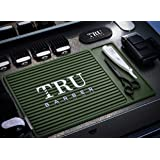 "TRU BARBER ORGANIZER MAT 13""X 9"" (GREEN) Flexible PVC Station Mat, Professional Mat, Salon and Barbershop work Station…"