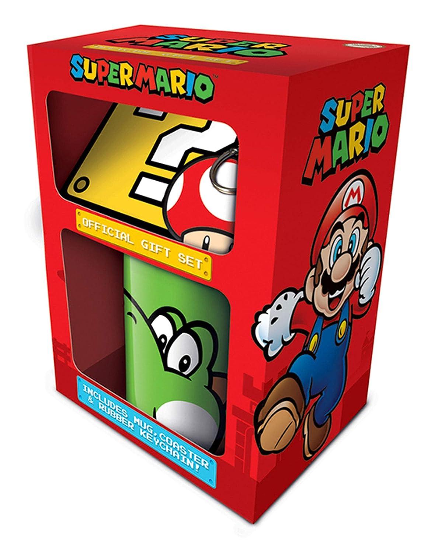 empireposter Super Mario - Yoshi - Limited Edion Gift Box Geschenkset Fanartikel je 1x Lizenz-Tasse, 1x Schlü sselanhä nger und 1x Untersetzerit