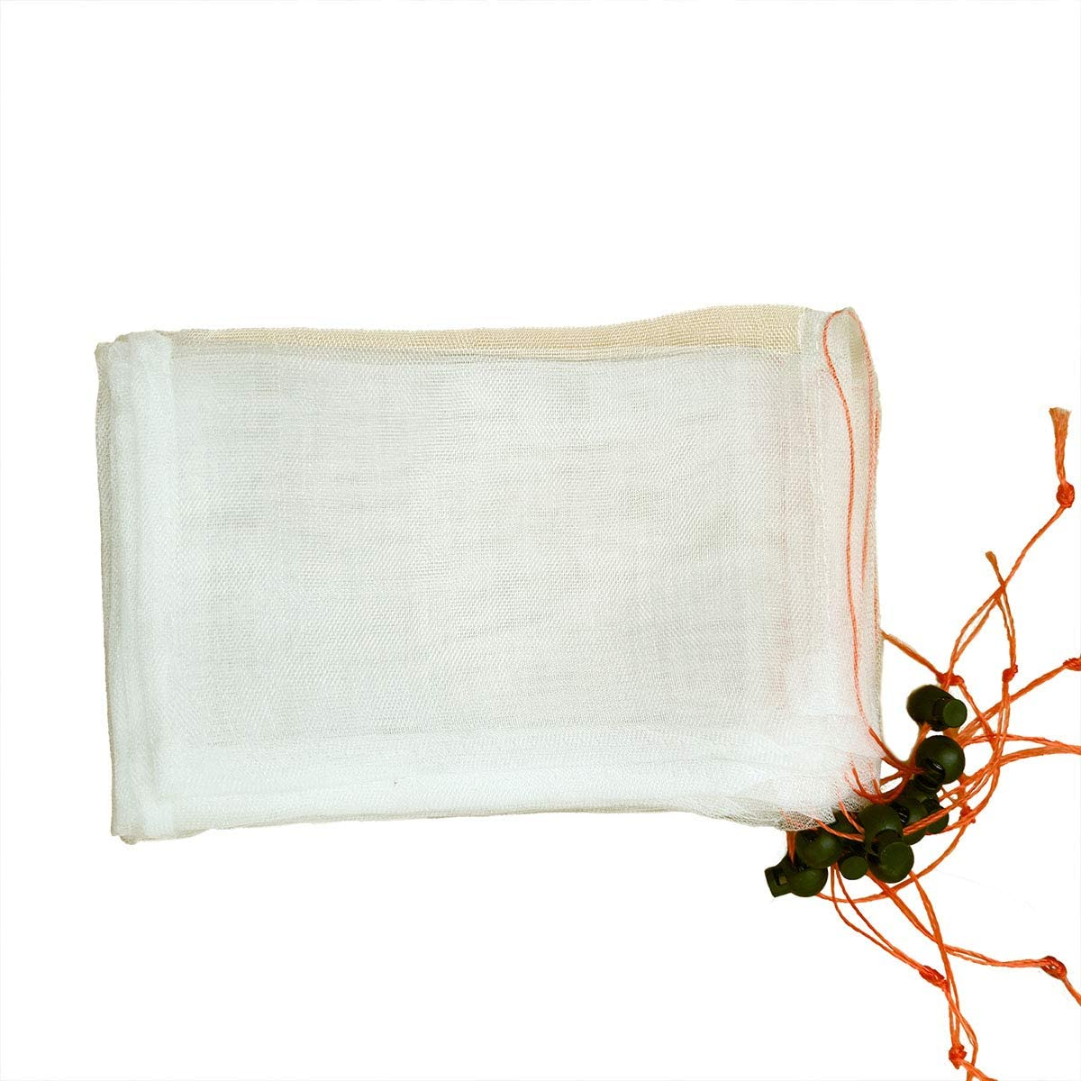 HHTHH Garden Netting Bags with Drawstring and Cord Lock for Fruits and Vegetables (50 pcs, 10 X 14 inch)