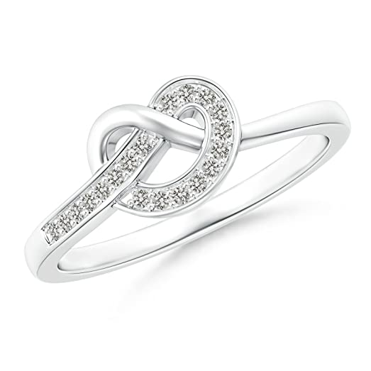 Angara Pave-Set Diamond Knotted Heart Ring sJVFFmkl