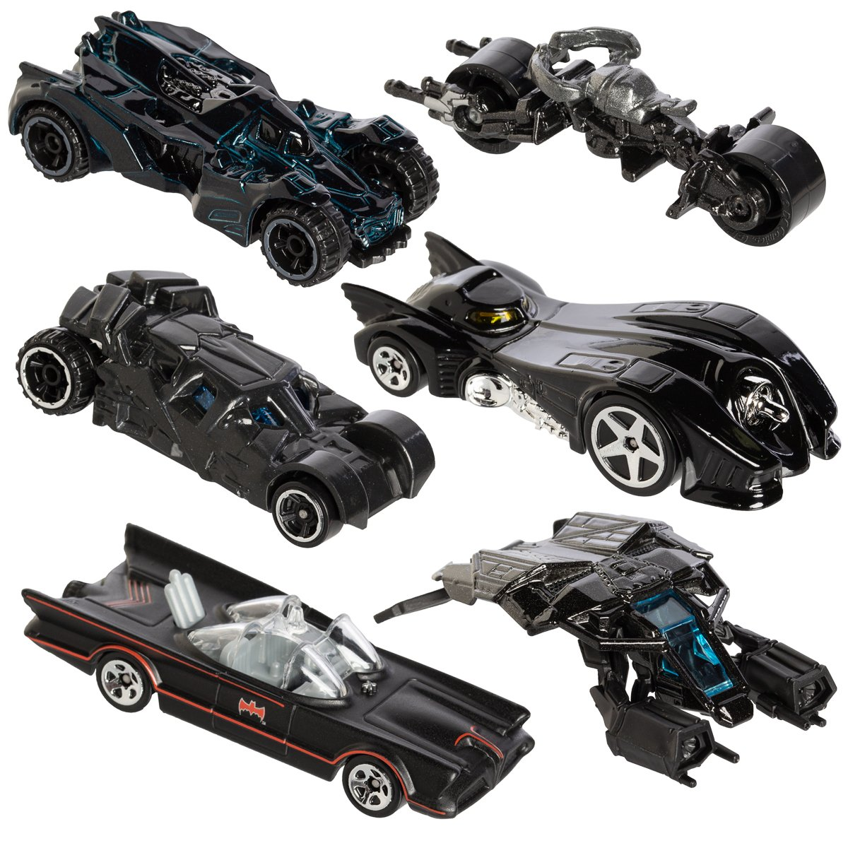 Hot Wheels, 2015 Batman, Bundle Set of 6 Exclusive Die-Cast Vehicles Mattel DFK69