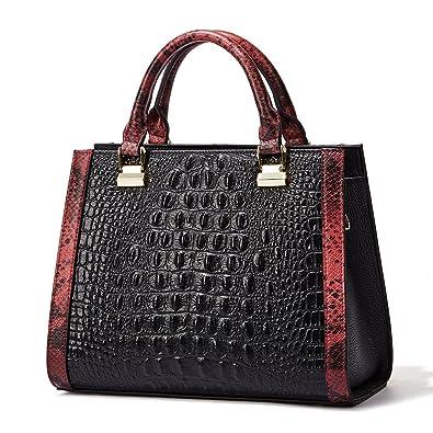 389f7e05e73 Women Genuine Leather Designer Handbags Crocodile Top-handle Bags ...