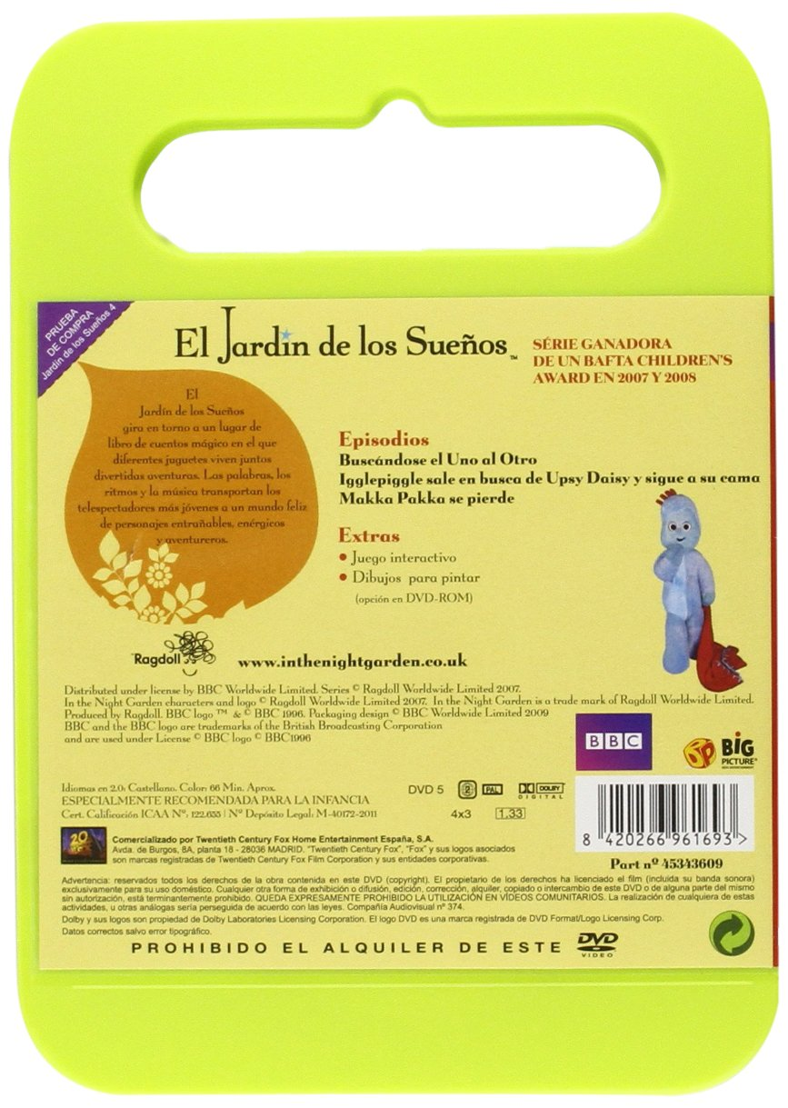 El Jardin De Los Sueños Vol 4 [DVD]: Amazon.es: Animación, Andrew Davenport, Anne Wood, Animación, N/A: Cine y Series TV