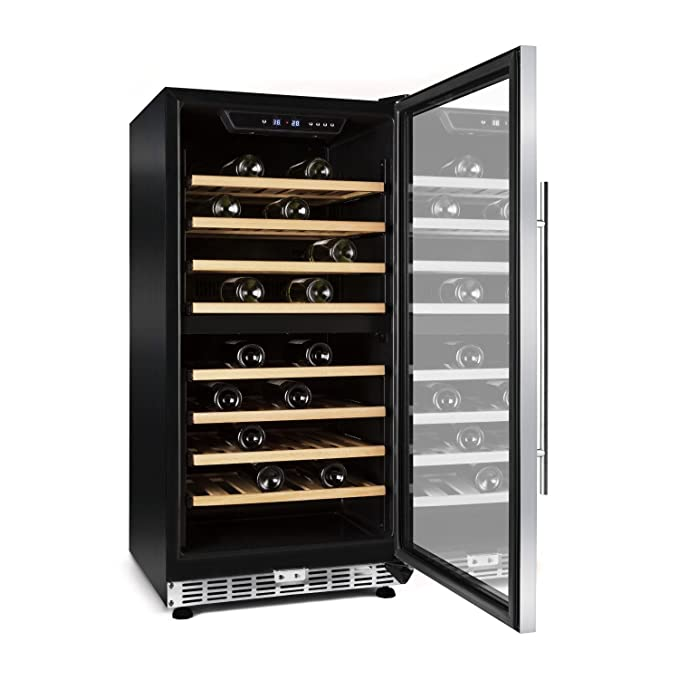 Klarstein Reserva Saloon Frigorífico 12 botellas de vino 40 litros ...