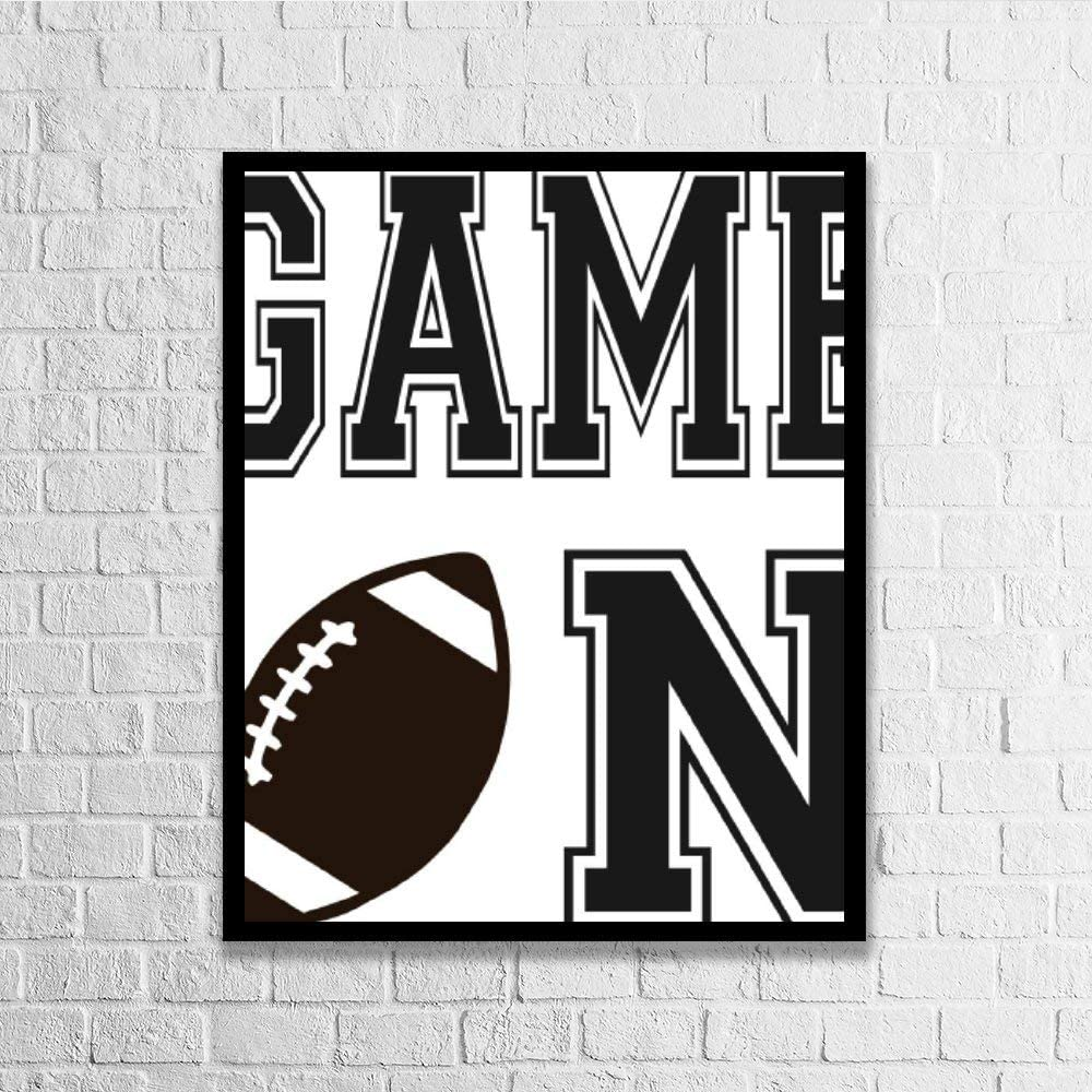 DKISEE Wall Art Game On Wood Framed Sign Home Decor Wood Sign Wall Decor Poster Print