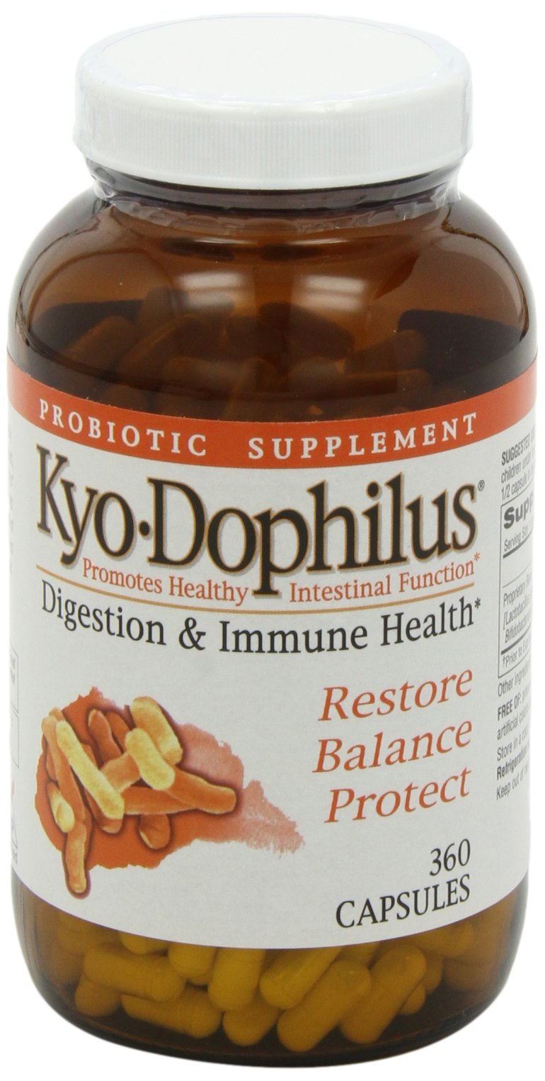 Kyo-Dophilus Digestion & Immune Health Probiotic Supplement (360 Capsules) Soy- Dairy- Gluten-Free, Digestive Health Support