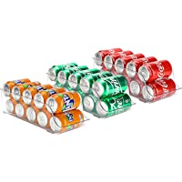 Puricon 【3 Pack】 Can Organizer for Refrigerator, Soda Can Drink Holder Dispenser Bin Beverage Container Stackable for…
