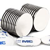 LOVIMAG Strong Neodymium Disc Magnets with Double-Sided Adhesive Powerful Rare Earth Magnets, Perfect for Fridge, DIY, Buildi
