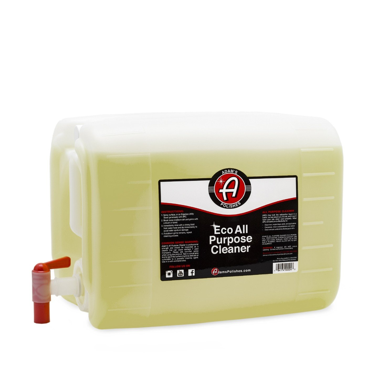 Adam's ECO All Purpose Cleaner - Industrial Strength, Concentrated Formula Can be Diluted Down - Tough on Dirt but Easy on Your Car, You, and The Environment (16 oz) Adam' s Polishes D015