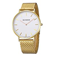 Blenheim London® Mens Watch Sales with White Dial Golden Case and Stainless steel Strap