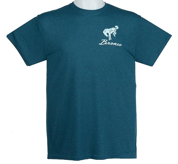 22eca0b0e4d Amazon.com  Hot Rod Apparel Company Ford Bronco T-Shirts 100% Cotton  Preshrunk - Blue  Clothing
