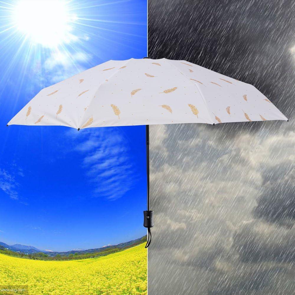 Multi Color for Women or Men Windproof Travel Umbrella for Sun Rain Compact Umbrella
