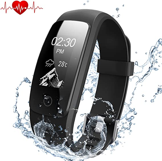 DBPOWER Fitness Tracker with Heart Rate Monitor, Activity Tracker, IP67 Waterproof Fitness Tracker with Step Tracker,Sleep Monitor Calorie ...