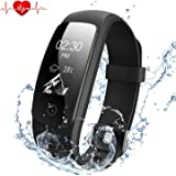 DBPOWER Fitness Tracker HR, IP67 Waterproof Smart Bracelet with Heart Rate Monitor,Sleep Monitor,Calorie Counter Pedometer + Watch Replacement Band for Activity Tracker for Android and IOS