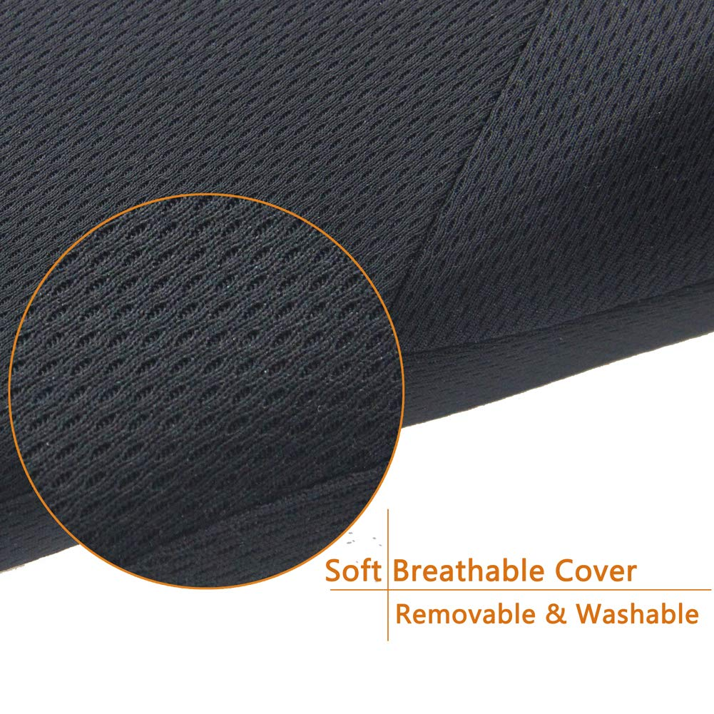 Black HelloTree Travel and Home Breathable /& Ergonomic Design for Back Scuatuc Pain Relief Car Lumbar Support Pillow Office Chairs High Desity Memory Foam Car Back Support Cushion for Major Auto Seat