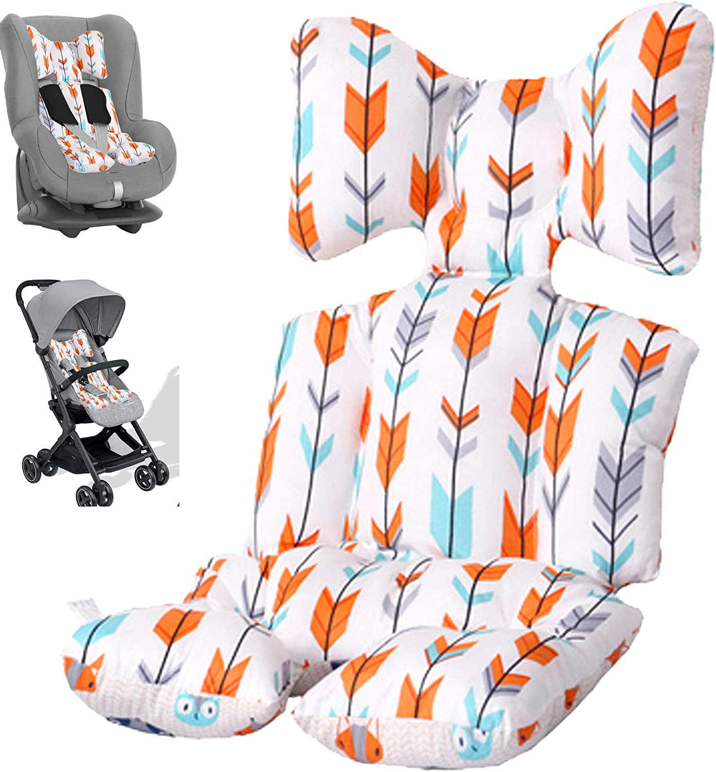 New Generation, Baby Seat Liner, Reversible Pure Cotton Universal Baby Stroller Seat Cushion Pad for Pushchair, Double Face, Pram, Stroller, Buggy and