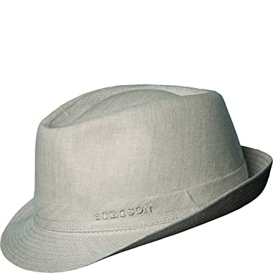 da9c950c3c9d1 Stetson Men s Osceola Stingy Brim Linen Hat at Amazon Men s Clothing store   Fedoras