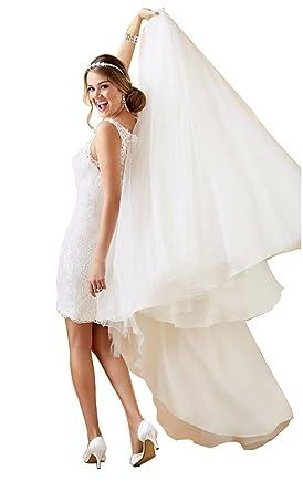 Tianshikeer Hochzeitskleid 2 Teilig Spitze Tull Lang Sexy Brautkleid